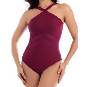 MIRACLESUIT SOLID POINT OF VIEW ONE PIECE SWIMSUIT